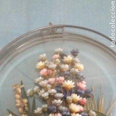 Vintage: BELLO ENCAPSULADO DE FLORES SECAS NATURALES. Lote 78851694