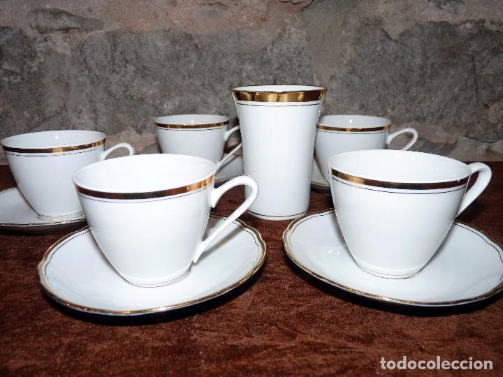JUEGO DE CAFE CHECO ART DECÓ (Vintage - Decoración - Porcelanas y Cerámicas)