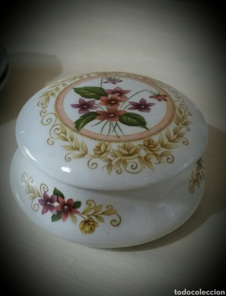 ANTIGUO JOYERO DE PORCELANA (Vintage - Decoración - Porcelanas y Cerámicas)