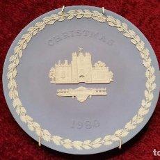 Vintage: LOTE DE DOS PLATOS CHRISTMAS 1978 Y 1980 WEDGWOOD. PORCELANA INGLESA.. Lote 82175580