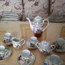 Vintage: JUEGO DE CAFÉ JAPONÉS. IMAGEN GEISHA. Lote 82725824