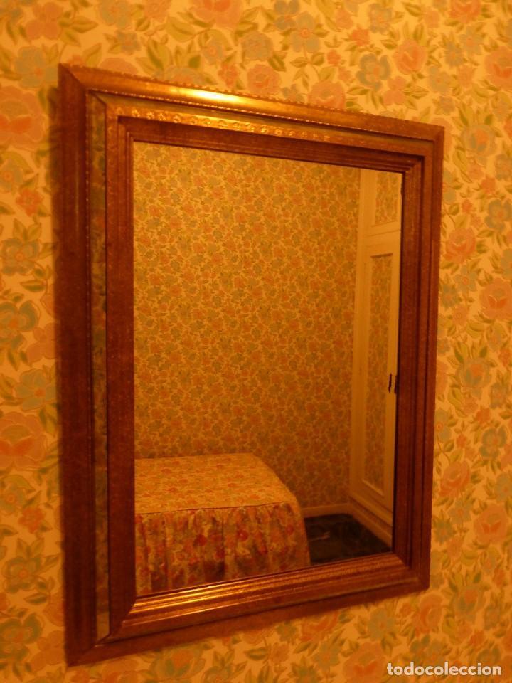 espejo enmarcado en latón envejecido - Comprar Cristal y vidrio ...