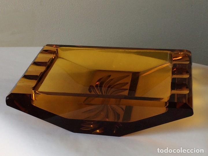 CENICERO CRISTAL MURANO, 1960 (Vintage - Decoración - Cristal y Vidrio)