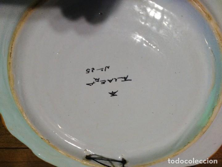 Vintage: PLato de cerámica de talavera escudo de artilleria - Foto 2 - 84262304