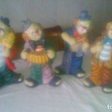 Vintage: COLECCION DE 4 PAYASOS MÚSICOS DE CERAMICA,VINTAGE AÑOS 70/80, TODOS SON HUCHAS.. Lote 84564664