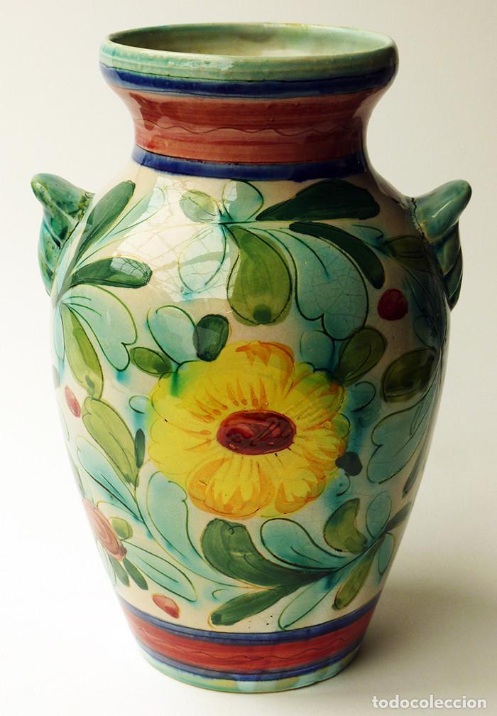 magnfico jarrn de cermica italiana diseo de flores ciudad de deruta italia retro vintage aos