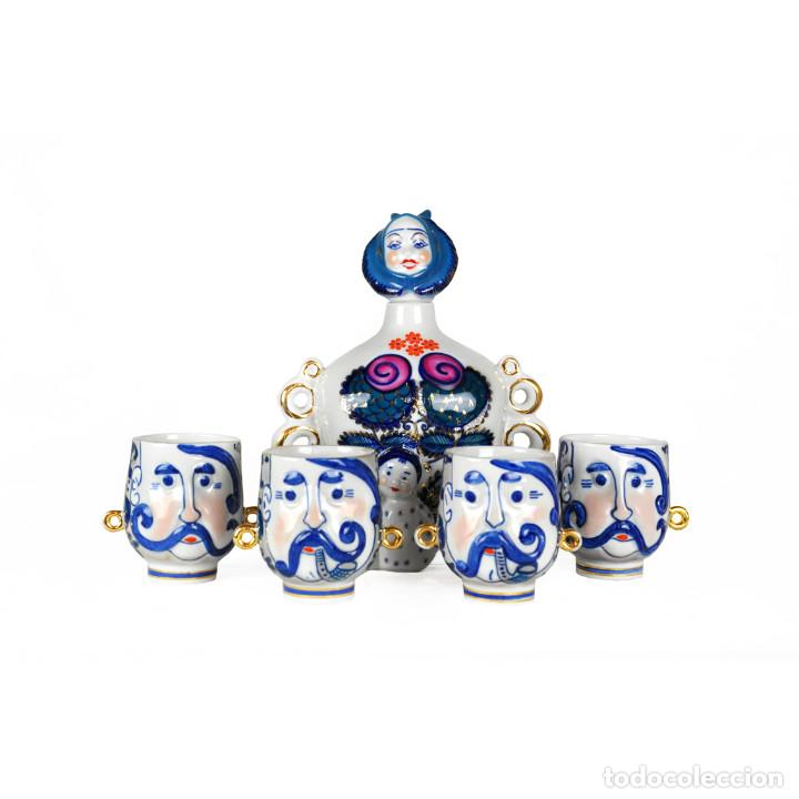 Vintage: Licorera de porcelana de la URSS Korosten - Foto 3 - 85491612