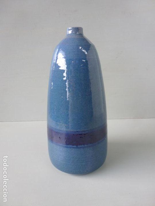 Vintage: Jarron de cerámica, azul. Firmado - Foto 2 - 85675588