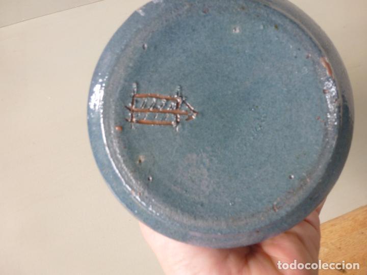 Vintage: Jarron de cerámica, azul. Firmado - Foto 5 - 85675588