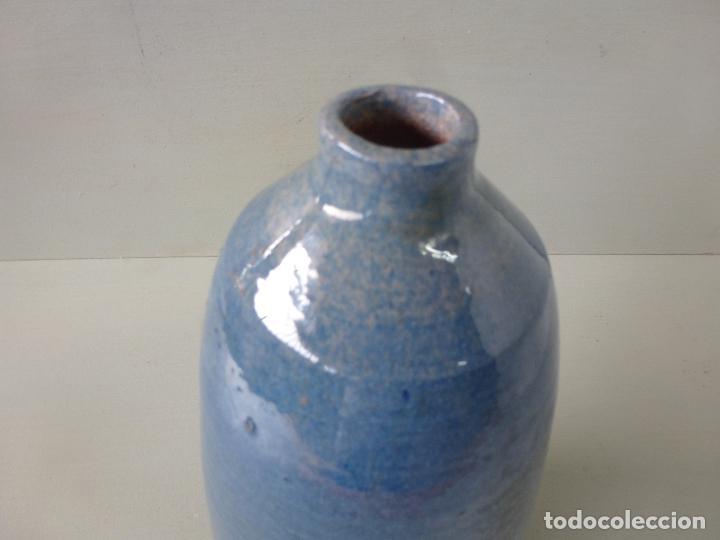 Vintage: Jarron de cerámica, azul. Firmado - Foto 7 - 85675588