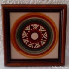 Vintage: BALDOSA AZULEJO ENMARCADO - 18 X 18 CMS. Lote 86030572