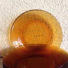 Vintage: 6 PLATOS HONDOS DURALEX COLOR AMBAR. Lote 86164372
