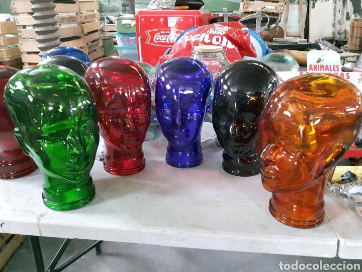 Elige cabeza de cristal de colores cabeza de vi comprar - Comprar decoracion vintage ...