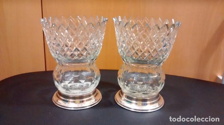 jarrones gemelos cristal vintage decoracin jarrones y floreros - Jarrones De Cristal