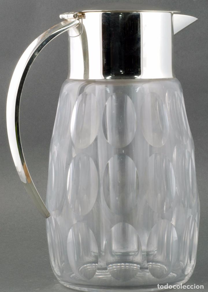 Vintage: Jarra agua cristal tallado metal con enfriador años 70 - Foto 3 - 86334664