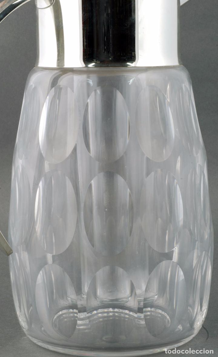 Vintage: Jarra agua cristal tallado metal con enfriador años 70 - Foto 4 - 86334664