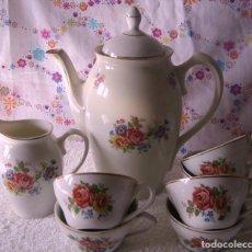 Vintage: JUEGO DE CAFE SANTA CLARA-8 PIEZAS-AÑOS 50. Lote 86518580