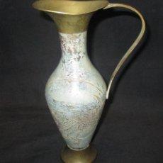 Vintage: JARRA DE BRONCE CON PATINA VERDOSA. Lote 87386204