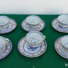 Vintage - 6 platos y tazas oriental - 87415452
