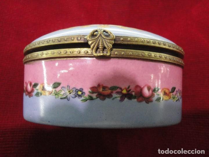 CAJA DE PORCELANA (Vintage - Decoración - Porcelanas y Cerámicas)