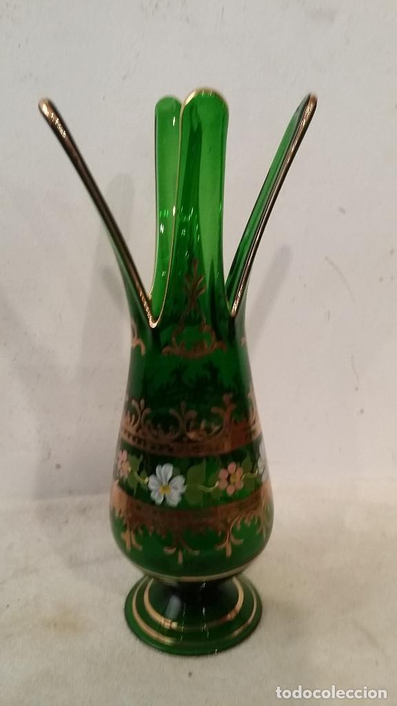 JARRON CRISTAL DE MURANO (Vintage - Decoración - Cristal y Vidrio)