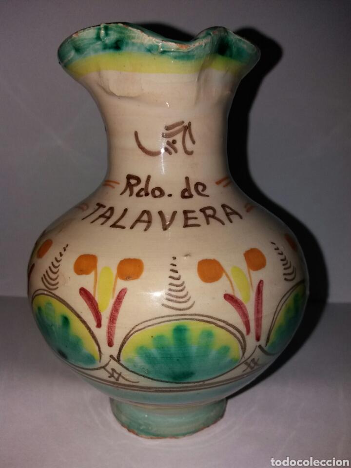 ANFORA ANTIGUA JARRON DE CERAMICA FIRMADA TALAVERA (Vintage - Decoración - Jarrones y Floreros)