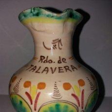 Vintage: ANFORA ANTIGUA JARRON DE CERAMICA FIRMADA TALAVERA. Lote 88354674