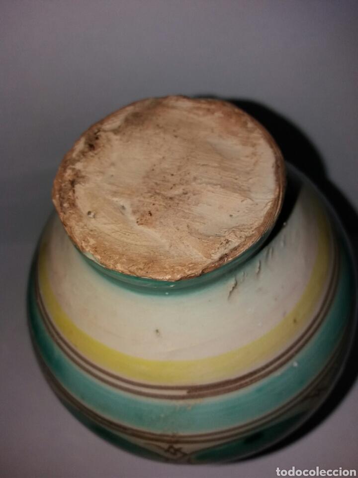 Vintage: Anfora Antigua jarron de ceramica firmada TALAVERA - Foto 4 - 88354674