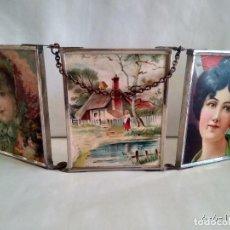 Vintage: ANTIGUO Y BONITO ESPEJO TOCADOR TRÍPTICO DE VIAJE. ESPEJOS TRIPLE TRES.. Lote 89054864