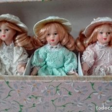 Vintage: MUÑECAS PORCELANA MINIATURA. Lote 90051084