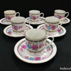Vintage: JUEGO DE CAFÉ 6 SERVICIOS. Lote 90632530