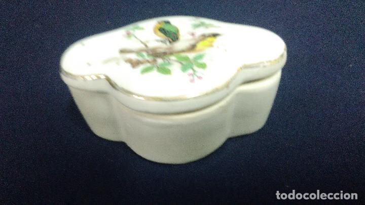 ANILLERO CAJA JOYERO PORCELANA (Vintage - Decoración - Porcelanas y Cerámicas)