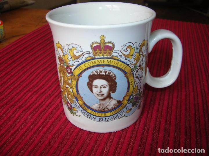 TAZA .TO COMMEMORATE.1952 - 1977 THE SILVER JUBILEE OF QEEN ELIZABETH I I (Vintage - Decoración - Porcelanas y Cerámicas)
