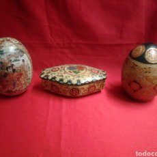 Vintage - Lote de tres piezas de porcelana china pintadas a mano - 91851358