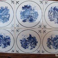 Vintage: PANEL DE AZULEJOS HOLANDESES. Lote 163511178
