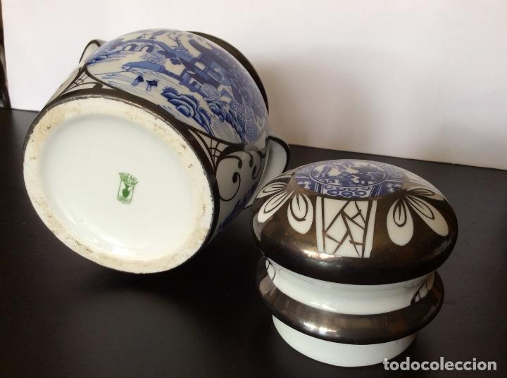 Vintage: BOHEMIA,JARRÓN CON DECORACIÓN CHINESCA 17 CM ALTURA - Foto 7 - 92156335