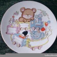 Vintage - Plato porcelana Made in Japan dibujos tren nacimiento bebé - 92262945