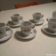 Vintage: JUEGO DE 6 SERVICIOS DE PORCELANA DE - CAFES EL CRIOLLO - MARCA REG. 1910 -. Lote 93044087