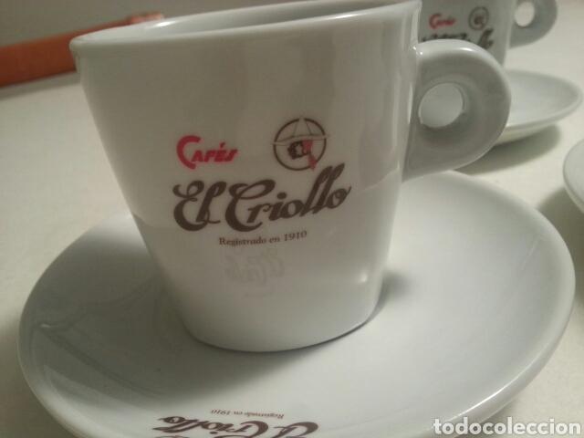 Vintage: JUEGO DE 6 SERVICIOS DE PORCELANA DE - CAFES EL CRIOLLO - MARCA REG. 1910 - - Foto 3 - 93044087