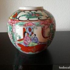 Vintage: JARRON DE PORCELANA CHINA PINTADO A MANO.. Lote 93356900