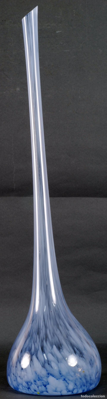 Vintage: Centro botella cristal murano soplado color azul vintage años 50 - 60 - Foto 2 - 93687220