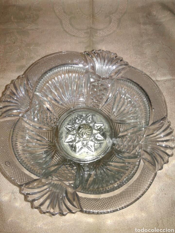 Vintage: Frutero o centro de metal y cristal prensado - Foto 2 - 94077658