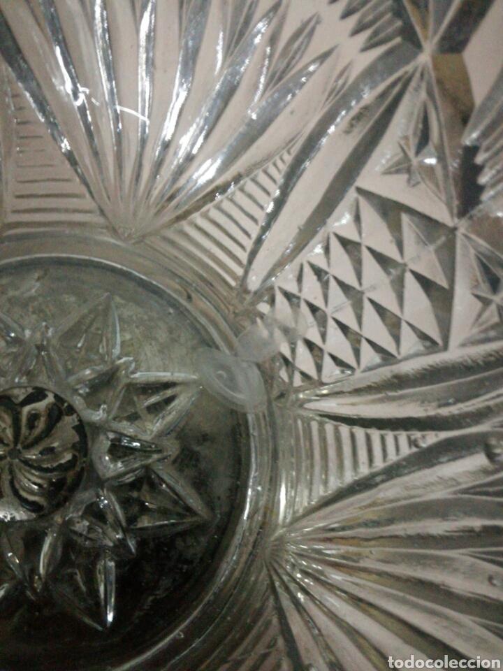 Vintage: Frutero o centro de metal y cristal prensado - Foto 3 - 94077658