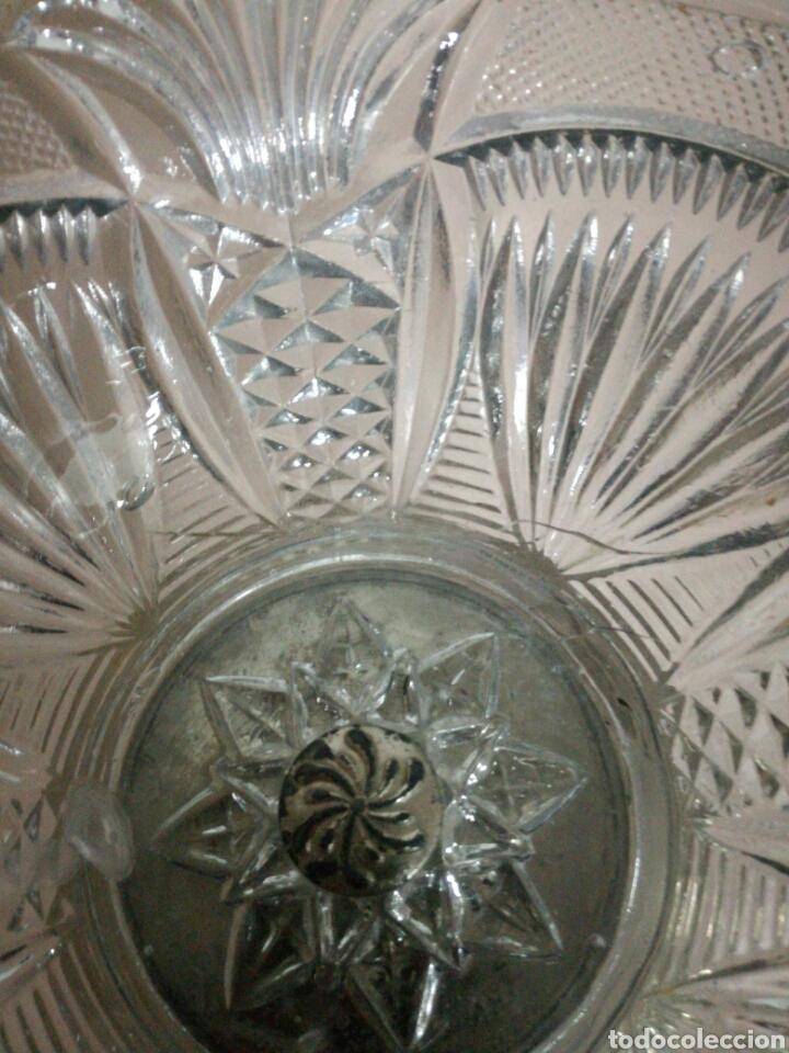 Vintage: Frutero o centro de metal y cristal prensado - Foto 6 - 94077658