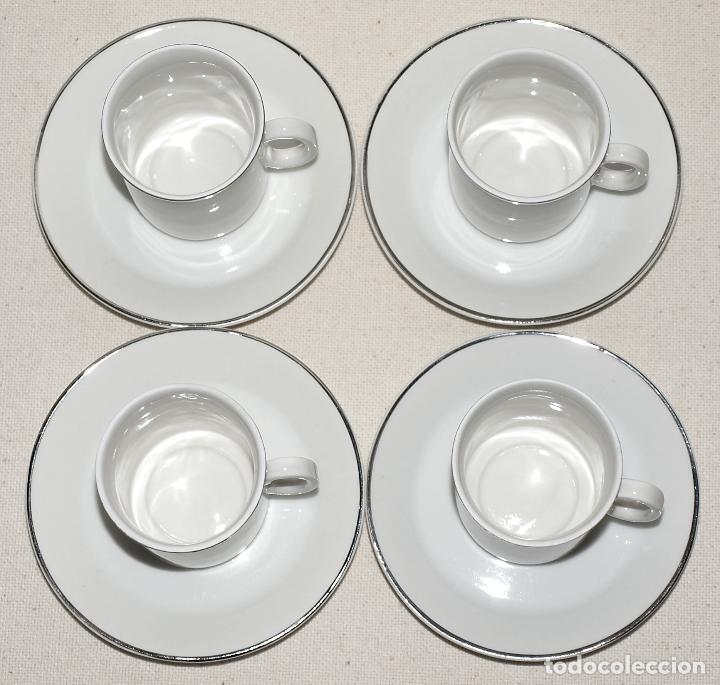 Vintage: JUEGO DE CAFE 12 SERVICIOS DE PORCELANA BLANCA Y FILO EN PLATA. VER FOTOS Y DESCRIPCION. - Foto 17 - 94144100