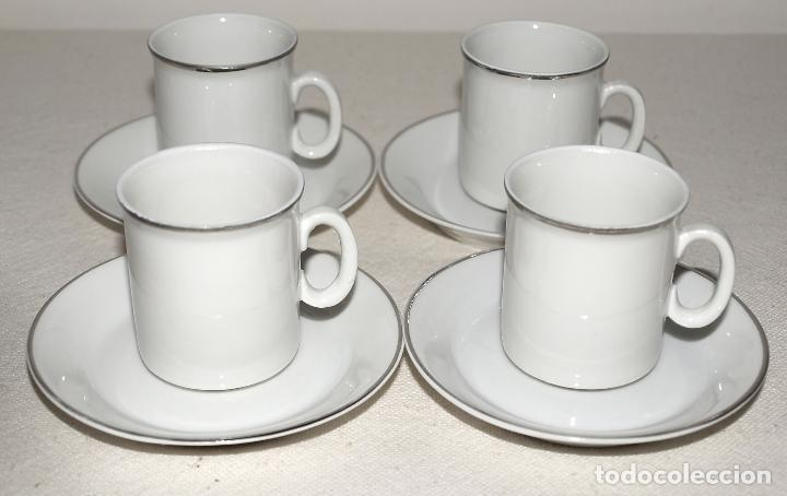 Vintage: JUEGO DE CAFE 12 SERVICIOS DE PORCELANA BLANCA Y FILO EN PLATA. VER FOTOS Y DESCRIPCION. - Foto 18 - 94144100