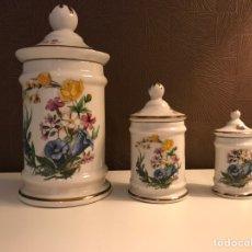 Vintage - Porcelana Juego de Tres tarros con tapa - 94306468