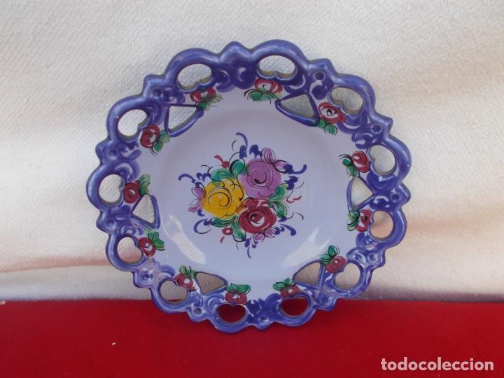 PLATO CERAMICA PEQUEÑO (Vintage - Decoración - Porcelanas y Cerámicas)