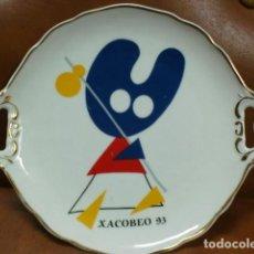 Vintage - PLATO PORCELANA- EL PELEGRIN .XACOBEO 93 - 95133251