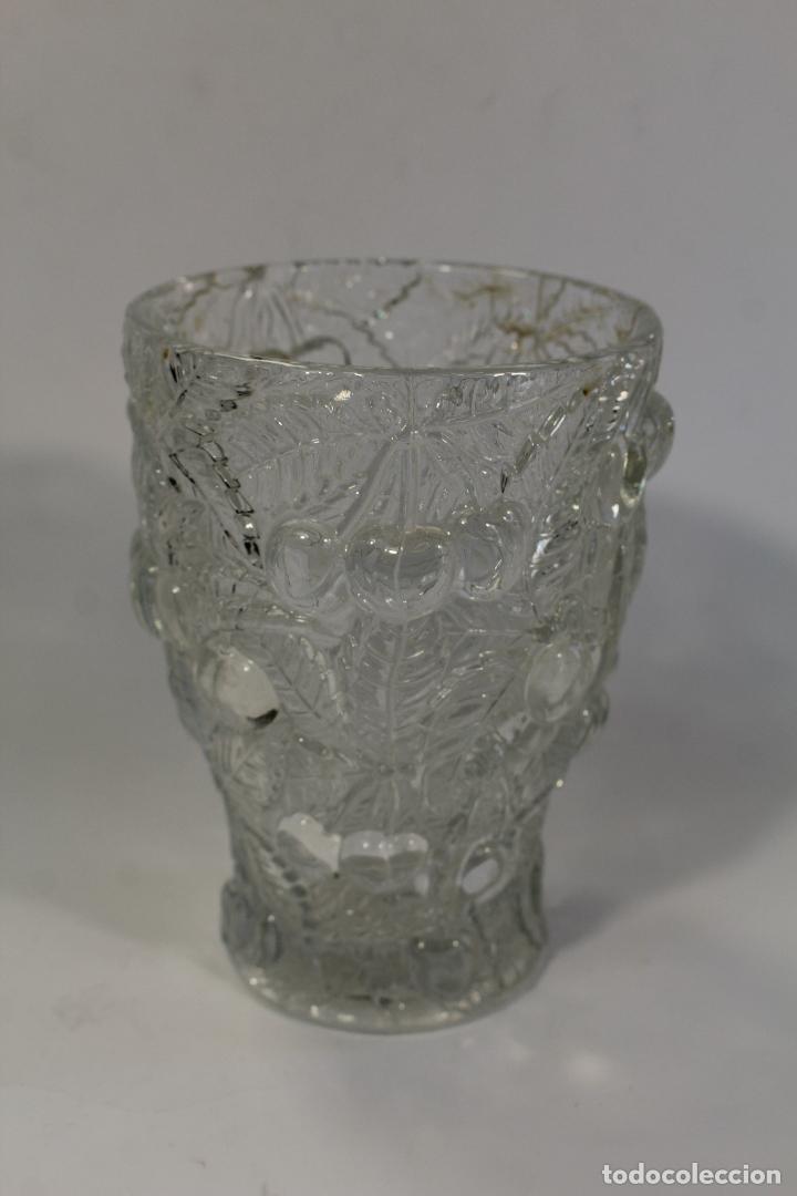 JARRON FLORERO CRISTAL (Vintage - Decoración - Cristal y Vidrio)